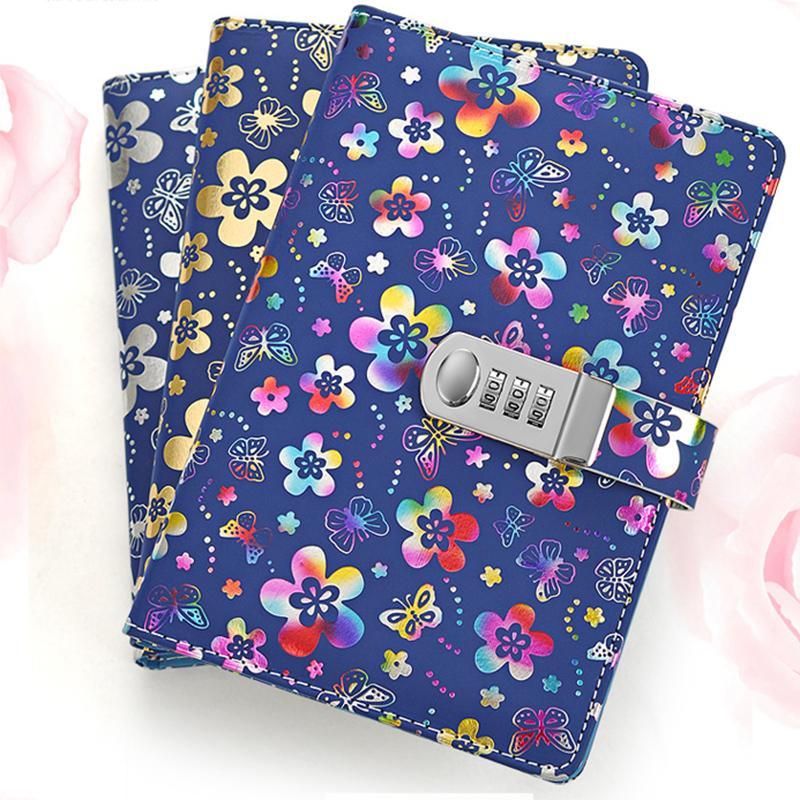 Novo caderno espiral A5 diário com código de senha de bloqueio produtos de papelaria 100 folhas de papel suprimentos de negócios Criativo Tendências presente