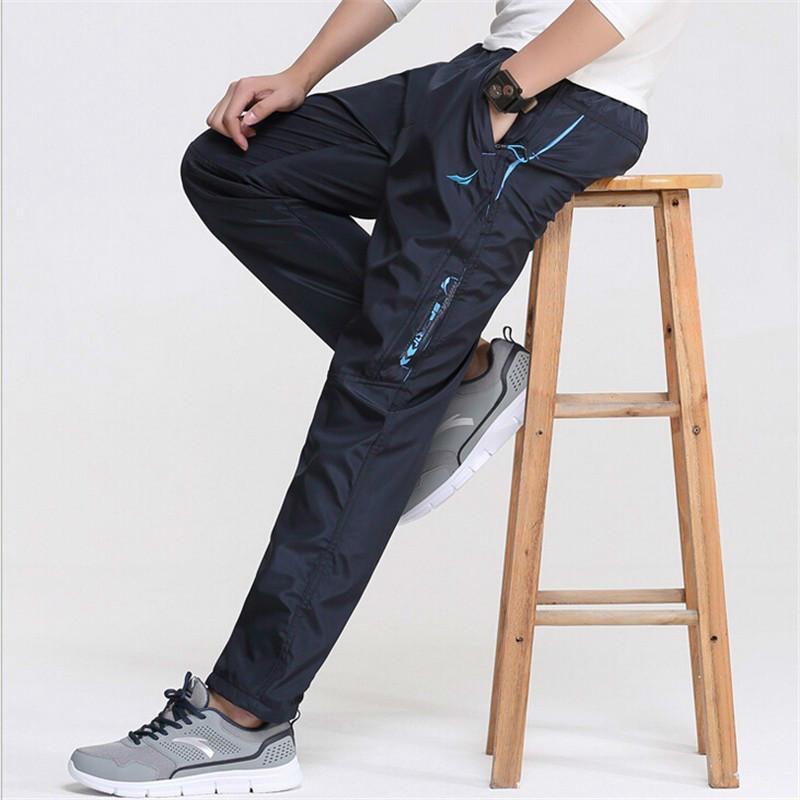 Men' Super Warm Winter Fleece Thick Pants Heavyweight Men's Slim Sweatpants Windbreaker Straight Velvet Male Wool Trousers 3XL