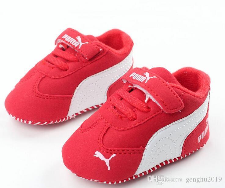 2020 봄 가을 캔버스 유아 아기 신발 소녀 소년 첫 번째 워커 베베 아기 SneakersLace 신생아 모카신 침대 신발