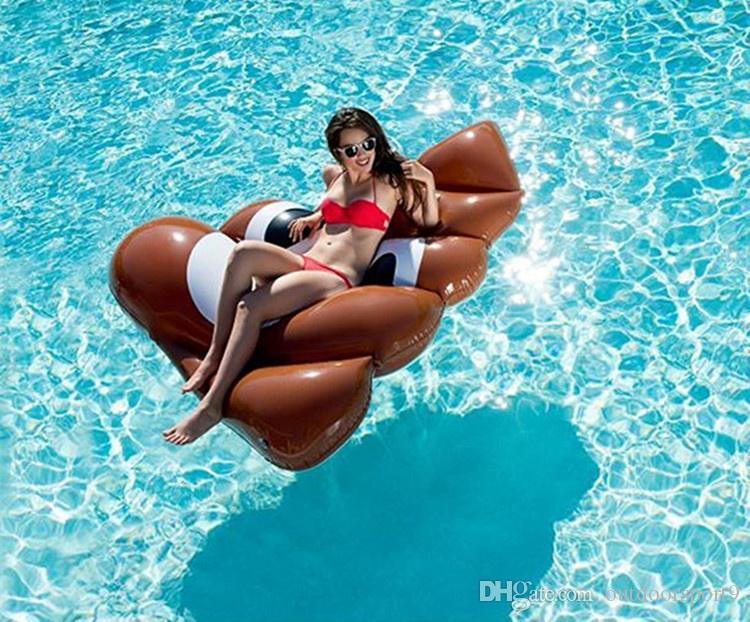 Verkauf von grünen PVC aufblasbaren Hocker schwimmenden Vorrat Versorgung Erwachsenen Wasserversorgung aufblasbare schwimmende Bett Liege Waterfloatingbed