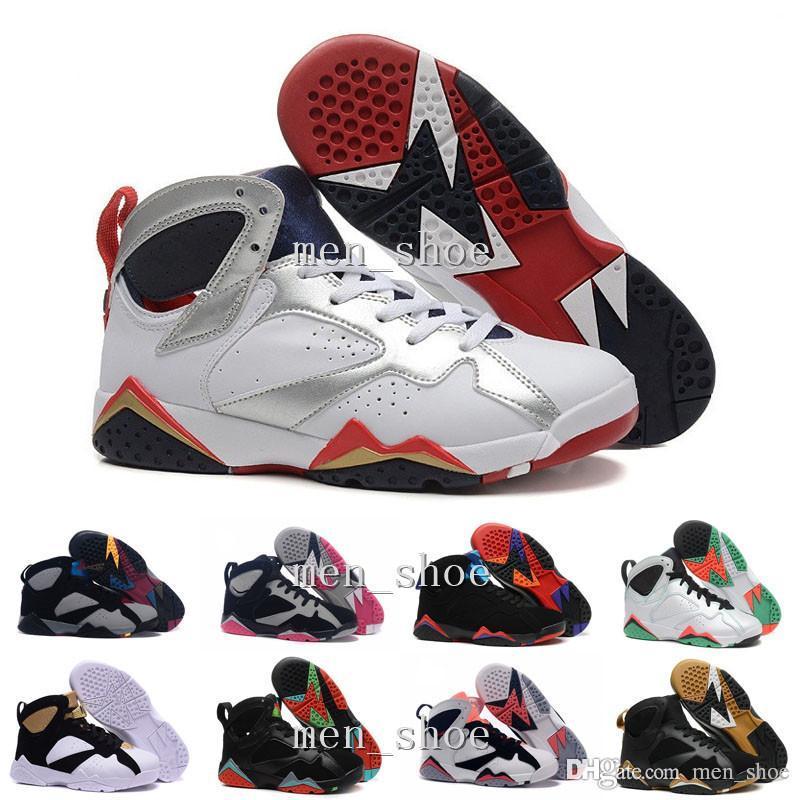 [Kutu Ile] VII 7 Ayakkabı 7 VII BEYAZ TURQUOISE SIYAH ICE MAVI Basketbol Ayakkabı Ucuz Spor Çizmeler Atletizm Sneakers Erkekler Eğitmenler