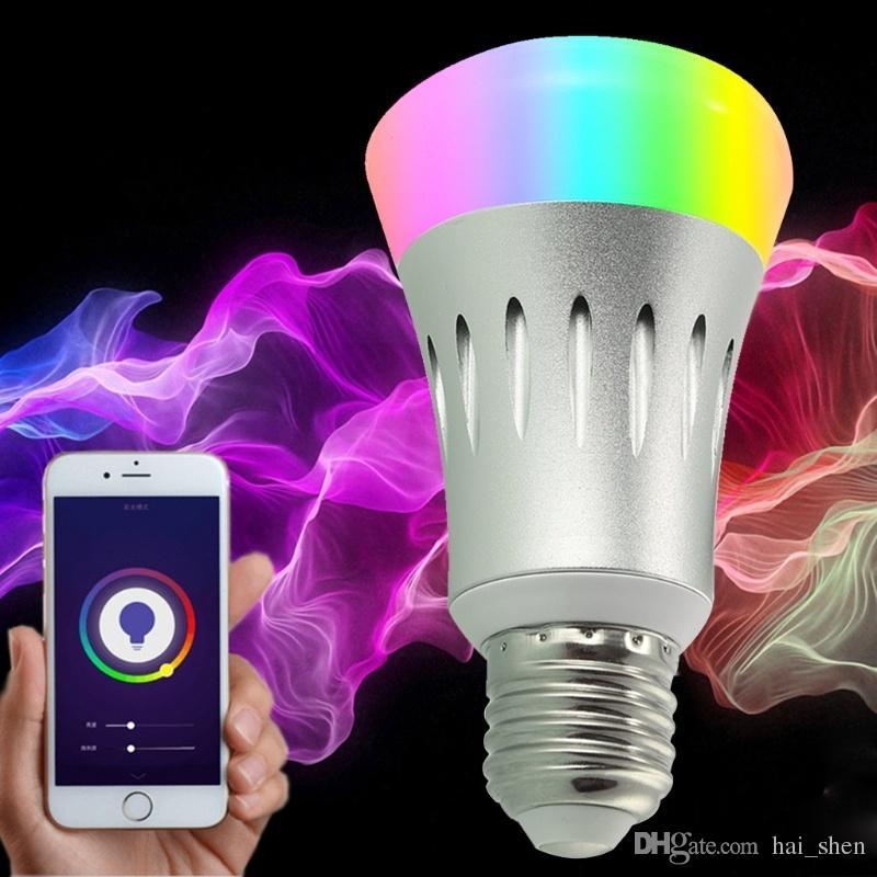 Nouveau WiFi LED Ampoule Gradateur E27 Smart éclairage couleur changement de travail avec Smart Home WAN
