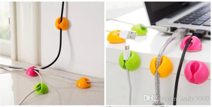 Attraktive Kabel Clip Schreibtisch Aufgeräumt Draht Drop Blei USB Ladegerät Kabel Halter Organizer Halter Linie Zubehör G034