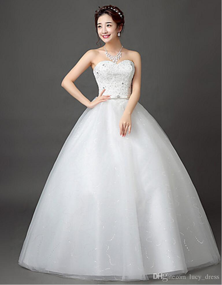 Bride Sexy Sweetheart Wedding Dresses Lace and Tulle Luxury Ball Gown Bridal Gown With Petticoat