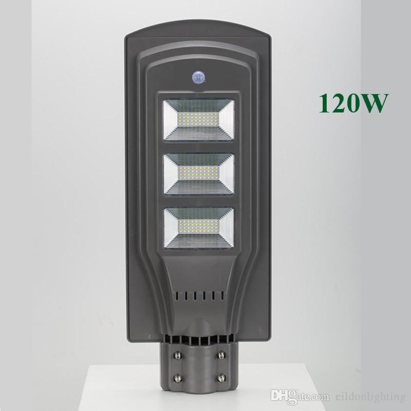 LED Solar Street Lights 60W 40W 20W 30 85-100LM Lamp All-in-One Waterproof Outdoor Panel ABS PIR Motion Sensor Direct Shenzhen China Factory