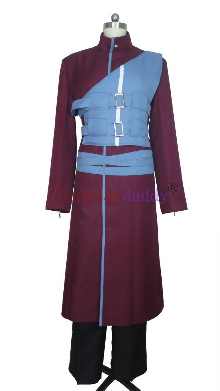 Naruto Shippuuden Gaara Kazekage Blue Armour Cosplay Costume E001