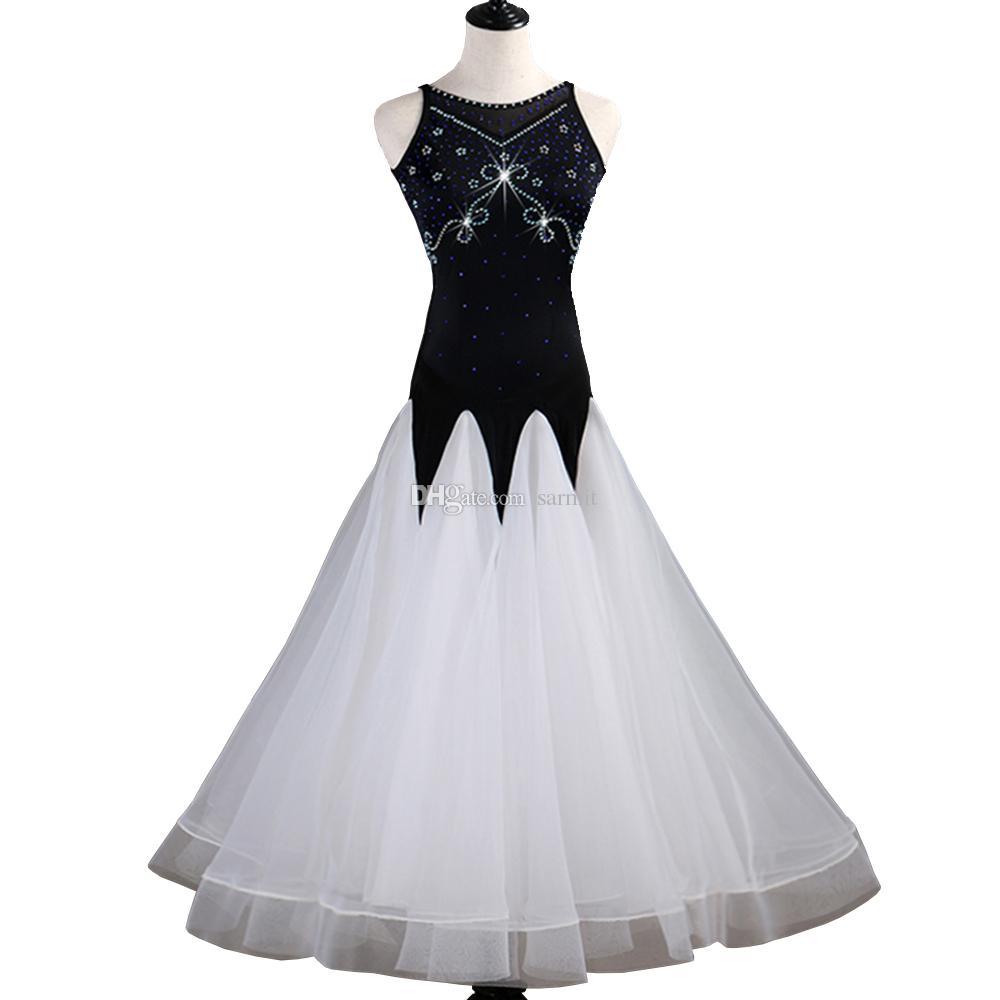 Customized Ballroom Dance Competition Dresses Lyrical Oriental Dance Costumes Standard Dance Dresses CHEAP D0039 Ballroom Dress Rhinestones