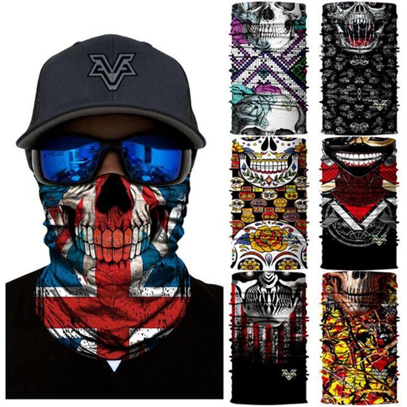 Vcoros été sport de plein air masque facial adulte personnalisé tête scraf tissu de haute qualité homme femmes demi visage vélo vélo masque