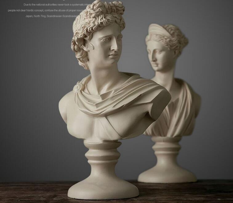 Creativo resina astratta David Character avatar figurine vintage Venus statua home decor ufficio artigianato decorazione della stanza oggetti