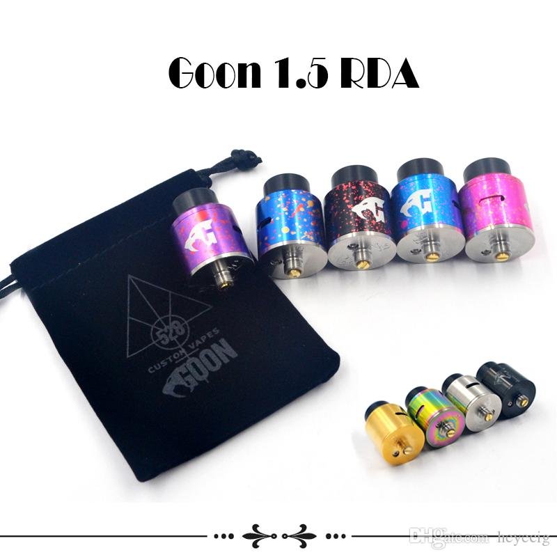 Goon 1.5 RDA Clone Custom 528 RDA Atomizers 24mm Diameter Cyclops Airflow Multi Colors For 510 Thread Atomizers Vape Mods New