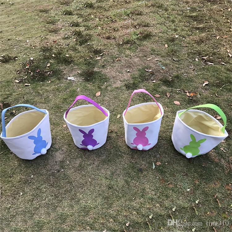 Sac-cadeau de Pâques lapin Earles de Pâques Sacs Linge Sacs de rangement en toile de linge Boîte de cadeaux de panier de lapin pour la fête de Pâques IB658