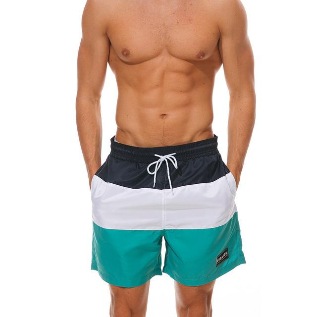 2019 Fashion Men Patchwork Beach Shorts Casual Swimwear For Men Sexy Board Shorts Holiday Swimsuit Mens Swimming Briefs Shorts Board Shorts