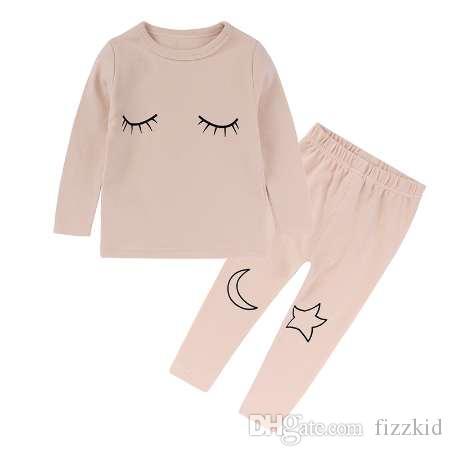 дети главная одежда одежда дети пижамы наборы Мальчик Девочка ночь костюм хлопок пижамы пижамы с длинным рукавом одежда