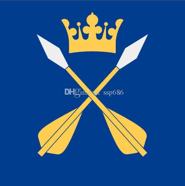 Flaga Szwecji Dalarnas Län Vapenflagga 3FT X 3FT Poliester Banner Latający 90 * 90 cm Niestandardowa flaga na zewnątrz