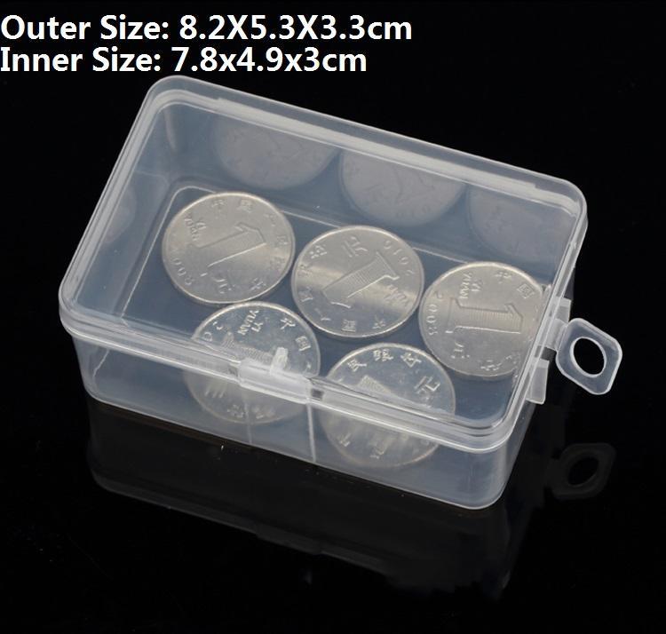 2 PÇS / LOTE Pequeno Transparente Caixa De embalagem De Plástico Transparente Plástico hardware eletrônico caixa de armazenamento de peças Ferramentas 8.2X5.3X3.3 cm
