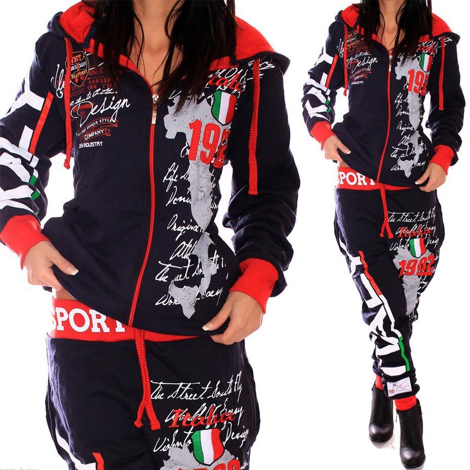 2018 Novas Mulheres Dois Peça Set Roupas de Tracksuit para roupas das mulheres 2 peças moletom com capuz e calças ajusta suor ternos mulheres