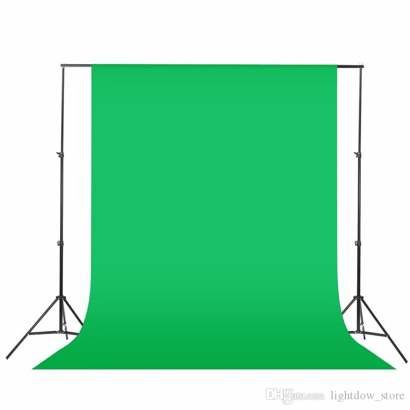 Black Green White 1.6x3m Photography Background Backdrop Support System Stand Kit Non-woven Photography Screen Photographic Backdrop