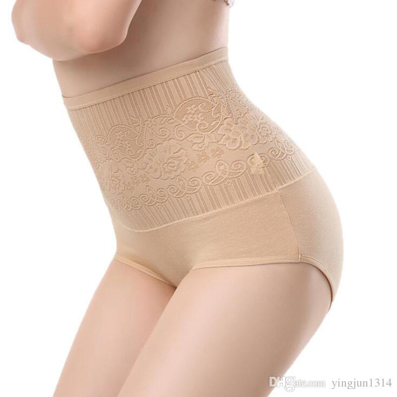 Woman sexy Lingerie jacquard cotton underwear briefs postpartum Tighten abdominal hips waist seamless Panties 3pcs/lot