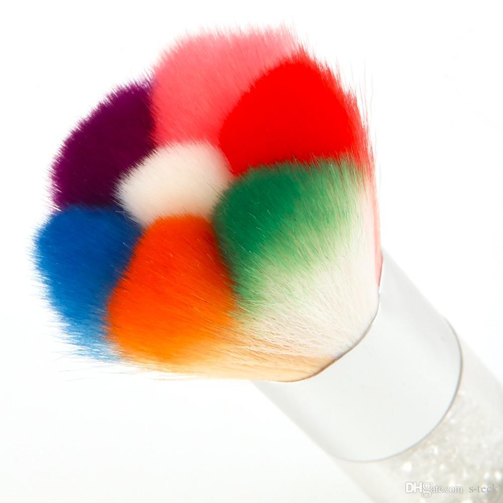 Renkli Tırnak Toz Fırçalar Akrilik UV Tırnak Jel Toz Nail Art Süslemeleri Toz Sökücü Fırça Temizleyici Makyaj Vakfı Aracı Kiti