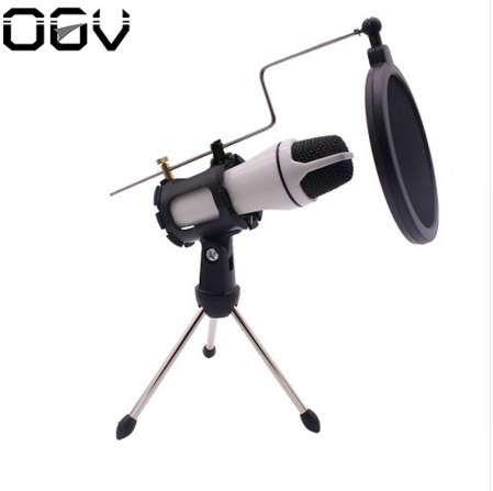 Microfono integrato della batteria tenuto in mano di OGV con mini attrezzatura della canzone della registrazione del supporto per la rete del telefono cellulare del computer