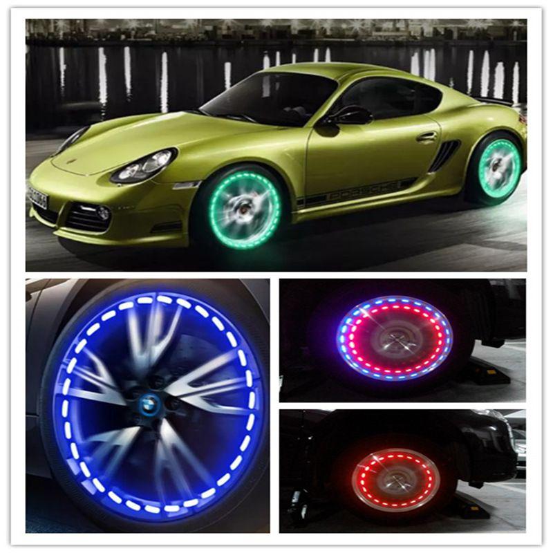 16 Mod Güneş Enerjisi LED Araba Oto Flaş Tekerlek Lastik Vana Kapağı Neon Gündüz Çalışan Işık Lamba Güneş Enerjisi Araba Gaz Kap lamba