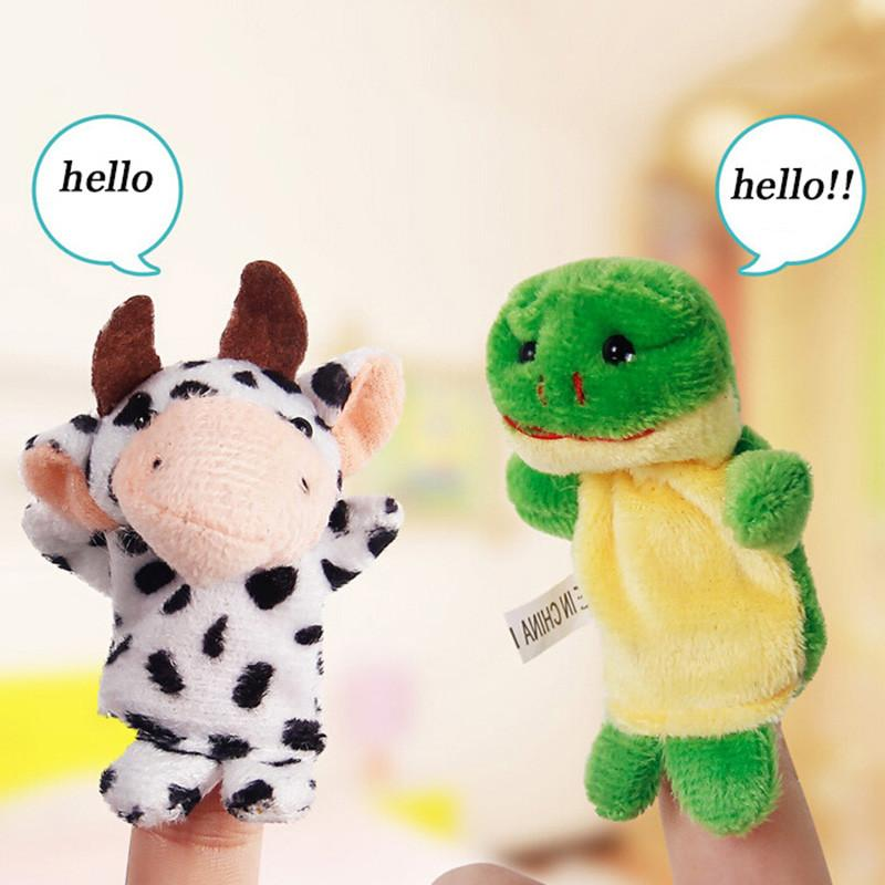 LeadingStar 10pcs/set Finger Puppet Hot Sale Cartoon Biological Animal Finger Puppet Plush Toys Child Baby Favor Do