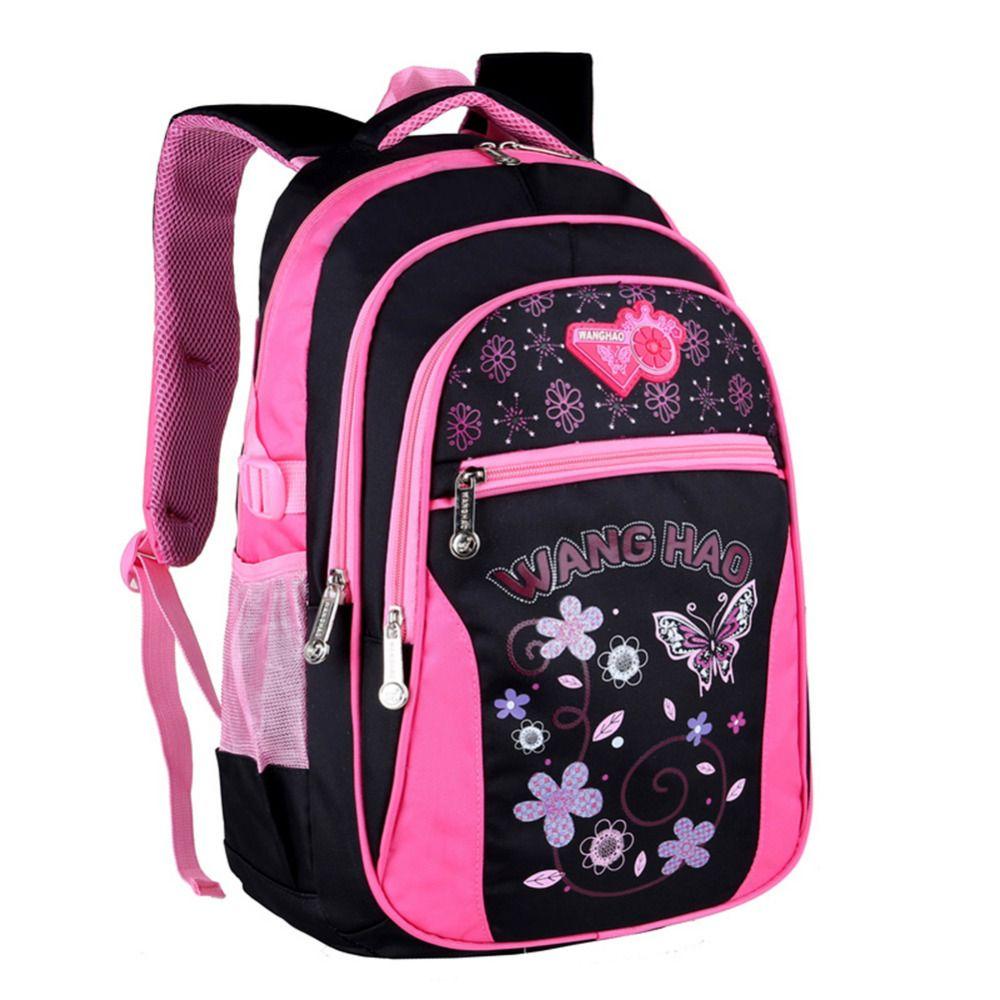 New Children School Bags for Girls Lovely Butterfly Printing Backpack Waterproof Kids Shoulder Book Bag pack mochila 2 sizes Y18110107