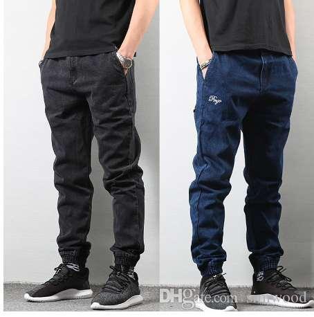 Compre Pantalones Jogger Para Hombre De Estilo Japones Pantalones Estilo Punk Para Pantalon Streetwear De Color Azul Marino Pantalones Estilo Hip Hop De Hombre Y Pantalon Cargo Slim Fit De Homme A