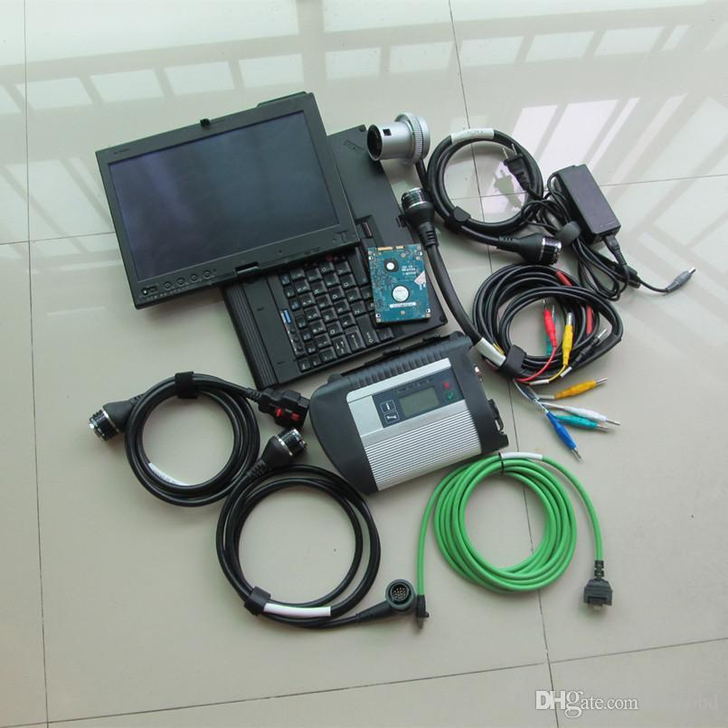 Outil de diagnostic SD SCARNER MB C4 STAR avec ordinateur portable X200T Toughbook Screen HDD 320GB Windows 7 Système