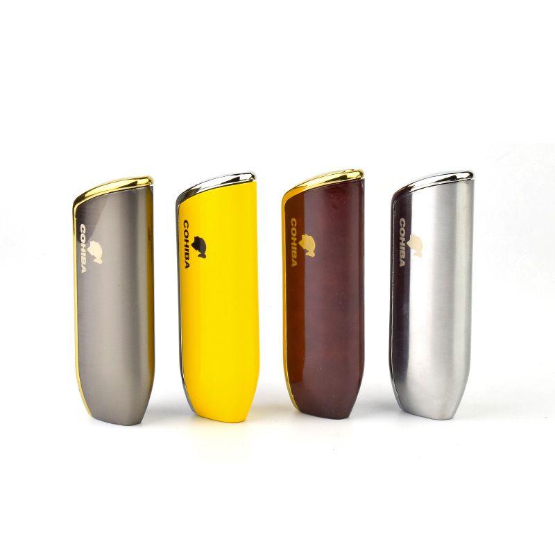 Cohiba-Metall 3 Fackel-Jet-Flammen-Feuerzeuge Zigarren-Zigarettenanzünder mit hoher Qualität nachfüllbarer Kraftstoff