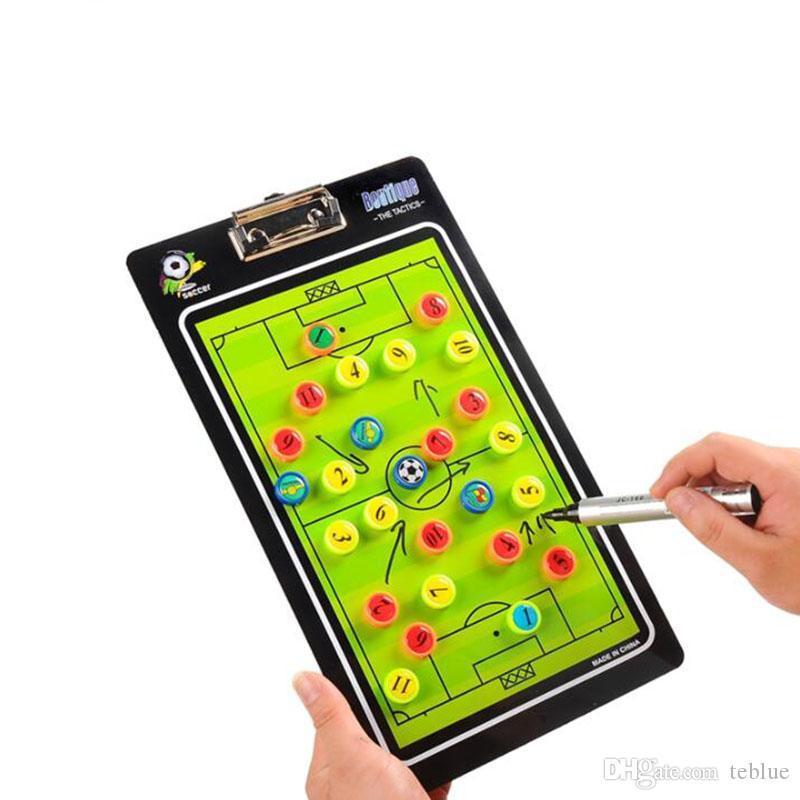 Nouvelle tactique de football Football plaque magnétique conseil d'enseignement football exercices tactiques Entraîneur ordre tactique pour le droit