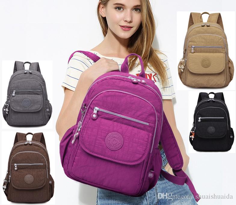 2018 компьютер сумка Спорт на открытом воздухе путешествия Рюкзак школьный ранец рюкзак холст чистый цвет мужчины и женщины школьные сумки Сумка A1503