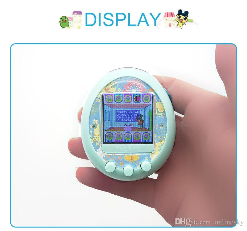 Best Quality Qpet Colorful screen electronic pet gaming console For Kids Cute game Console for child digital pet egg vs tamagotchi