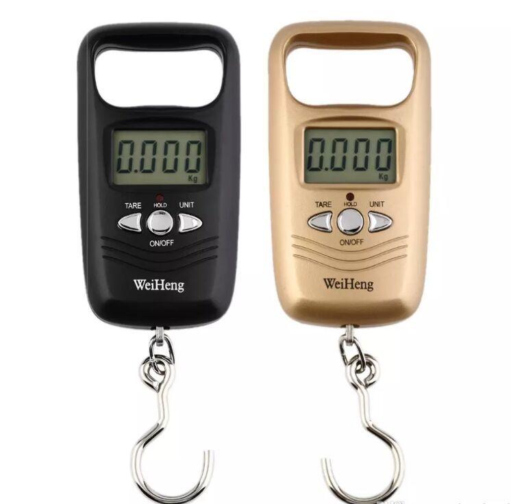 Mini Escala Colgante Bolsillo Portátil 50kg LCD Equipaje Digital Pesaje Gancho de Pesca Escala Balanzas Electrónicas Para Instrumento de Medición de Peso