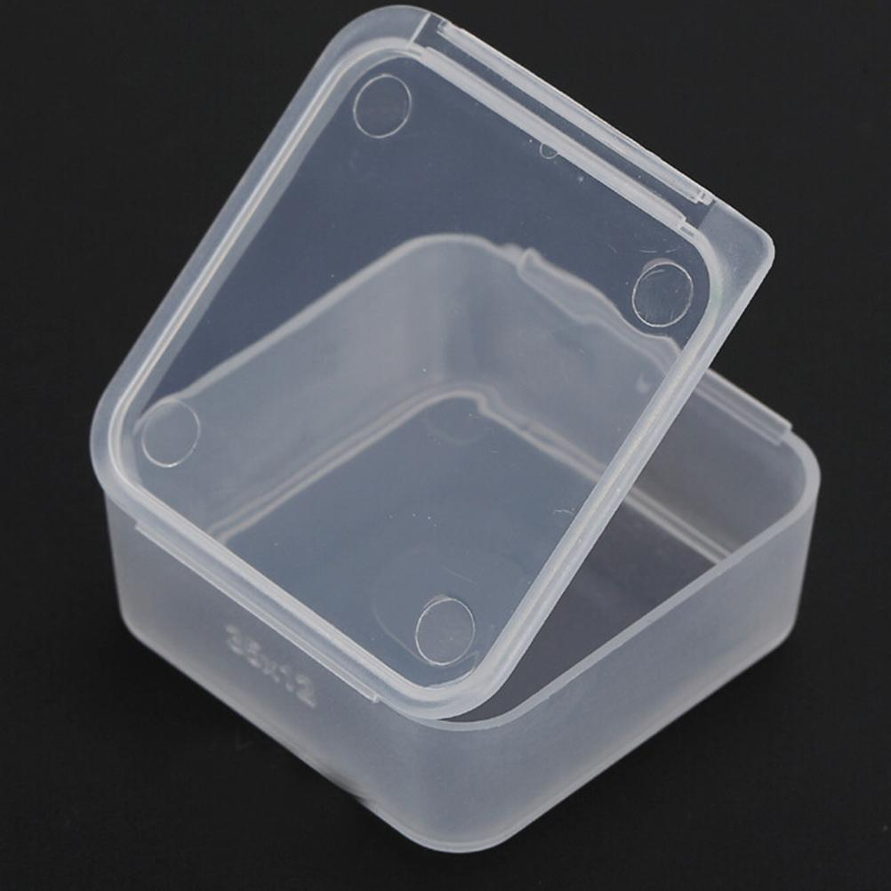 Storage Box Coin  Holders Small Square Plastic Clear Transparent Collection Container Case Collecting Wholesale 5Pcs/lot