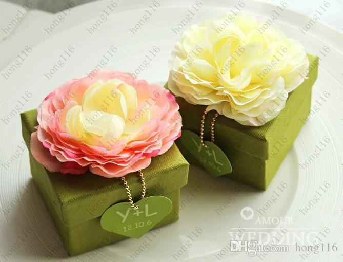Wedding Favors Candy Boxes Lotus Wedding Gift Boxes Chocolate Paper