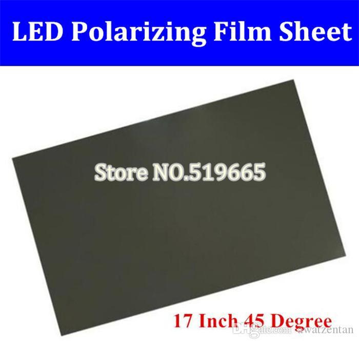 """17"""" pollici 45 gradi 272 * 340 millimetri polarizzatore LCD LED polarizzazione foglio di pellicola per monitor del PC"""