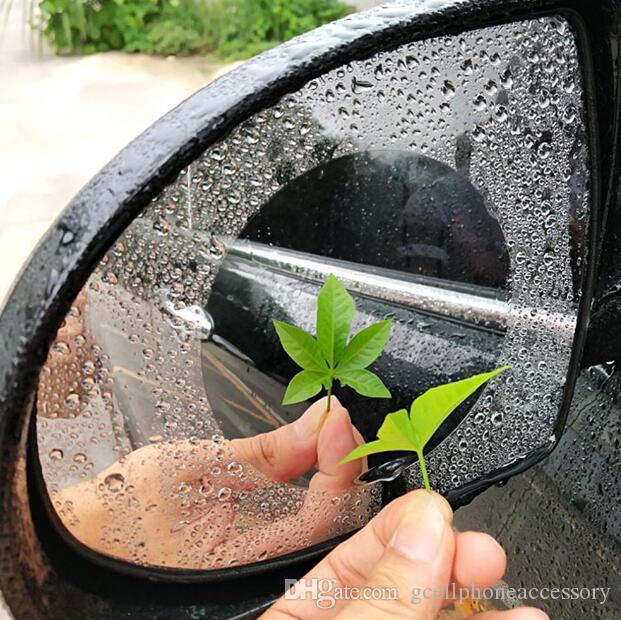 Samochód Lusterko Lusterko Rain Watteroodporne Film Odwracanie Lustro Antiglare Film przeciwmgielnym