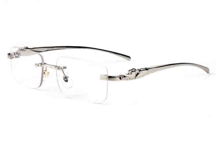 óculos de sol esportes dos homens de óculos mulheres moda chifre de búfalo homem mulheres óculos de sol leopardo sol óculos de óculos sem aro eyewear Lunettes