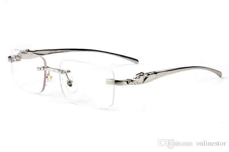 Mujeres para gafas para hombres Mujeres Lunettes Fashion Eyeglasses Hombre Leopardo Gafas Gafas de sol Buffalo Gafas de sol Sun Horn Rimless Sports Eyew mpdk