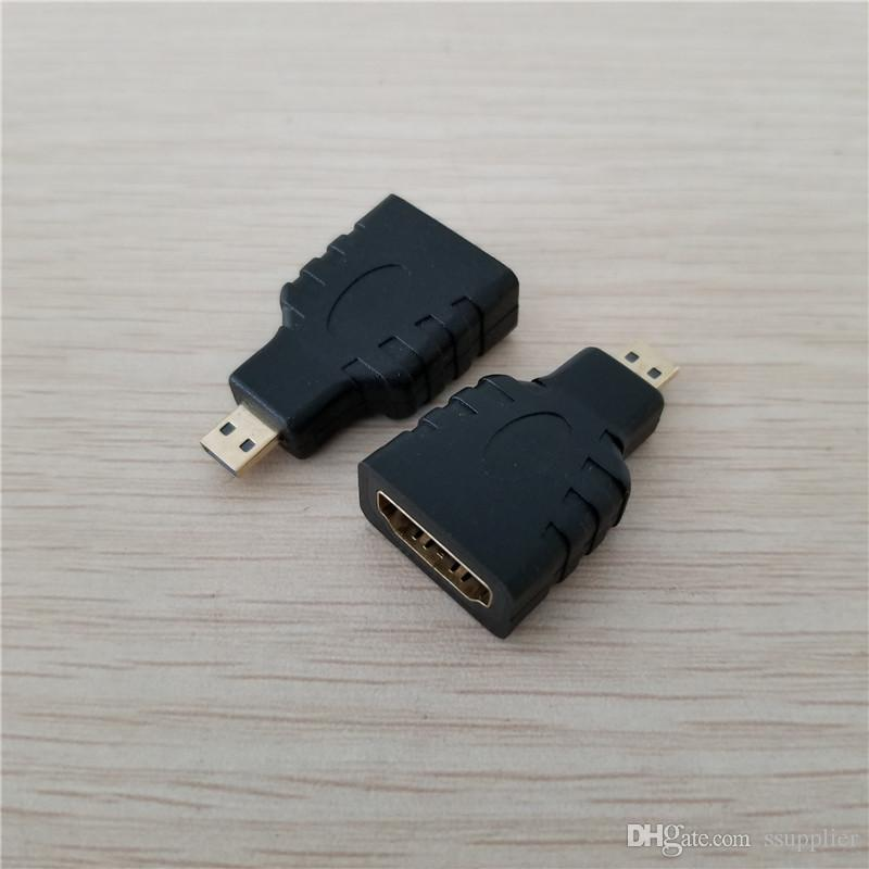 HDMI Type A Female to Micro HDMI Type D Male Adapter Converter Connector for DV Camera Tablet to HD TV Projector