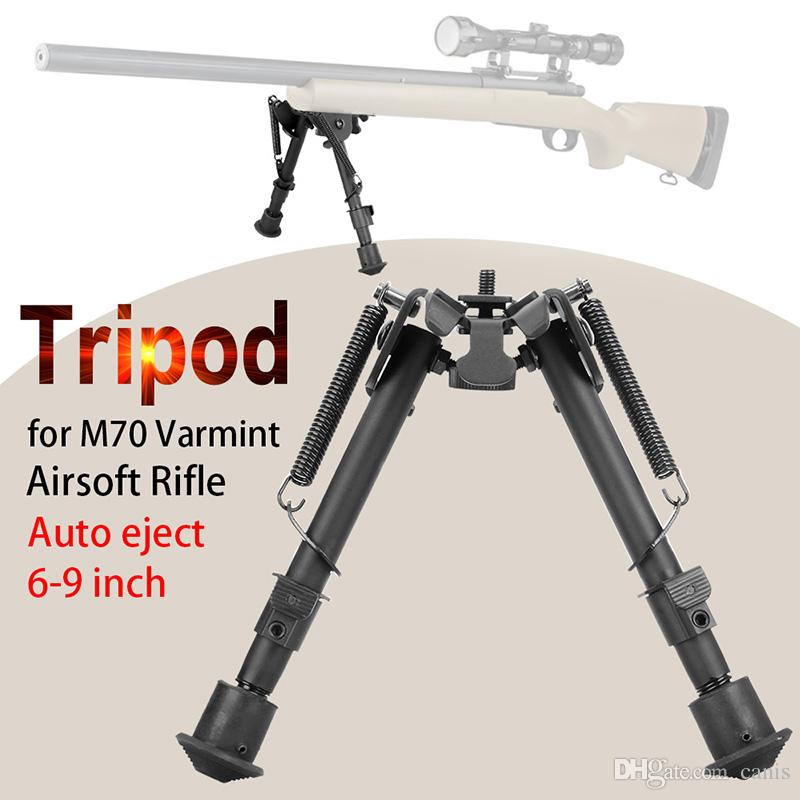 """PPT Tactical BIPODS Volledig verstelbare veeruitwerpen Benen Hoogte 6 """"tot 9"""" voor jachtgebruik CL17-0001"""