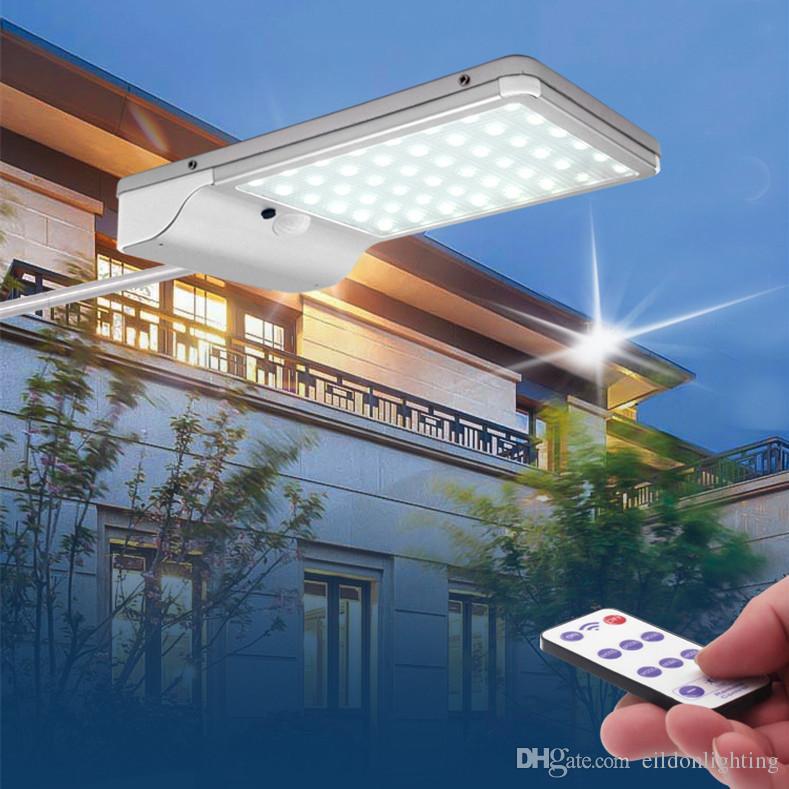태양 거리 벽 빛 10 와트 1000LM 9 인치 알루미늄 LED 모션 PIR 센서 야외 방수 도로 정원 램프 집 유도 조명 마당