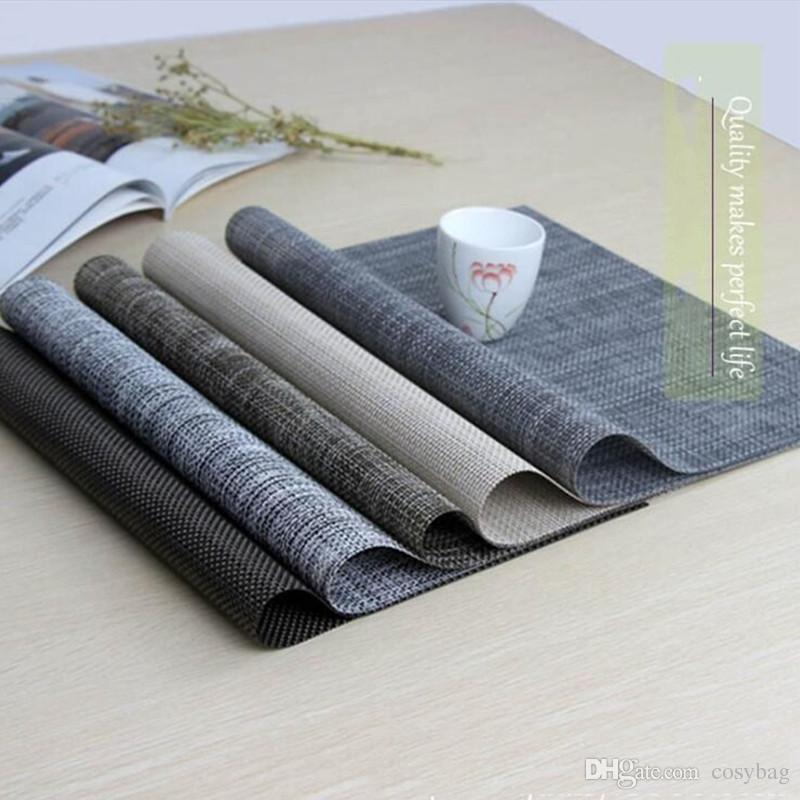 8 Color Placemats PVC Table Mats Placemat Non-Slip Washable Place Mats Heat Resistant Kitchen Tablemats for Dining Table