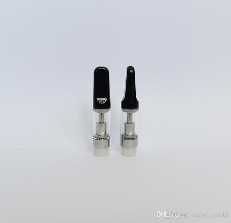 Boquilla de cerámica Cartuchos de Vape Th205 TH210 Cartucho de aceite grueso atomizador de cerámica lleno Vapor desechable de Pyress Glass vape pluma