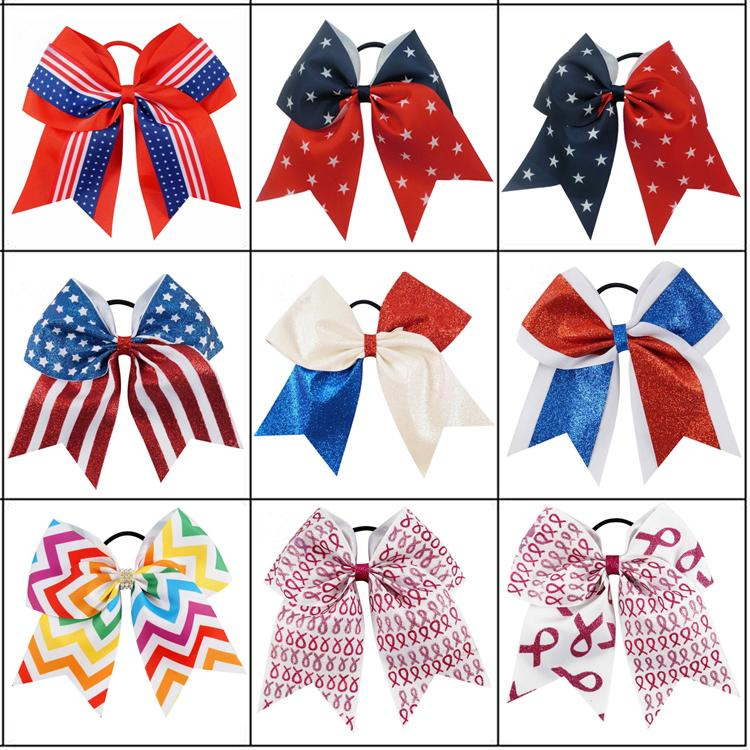 American Flag Headband 4th of July Independence Day childrens headdress Knotted Bow Headband with American Flag Hair Accessories