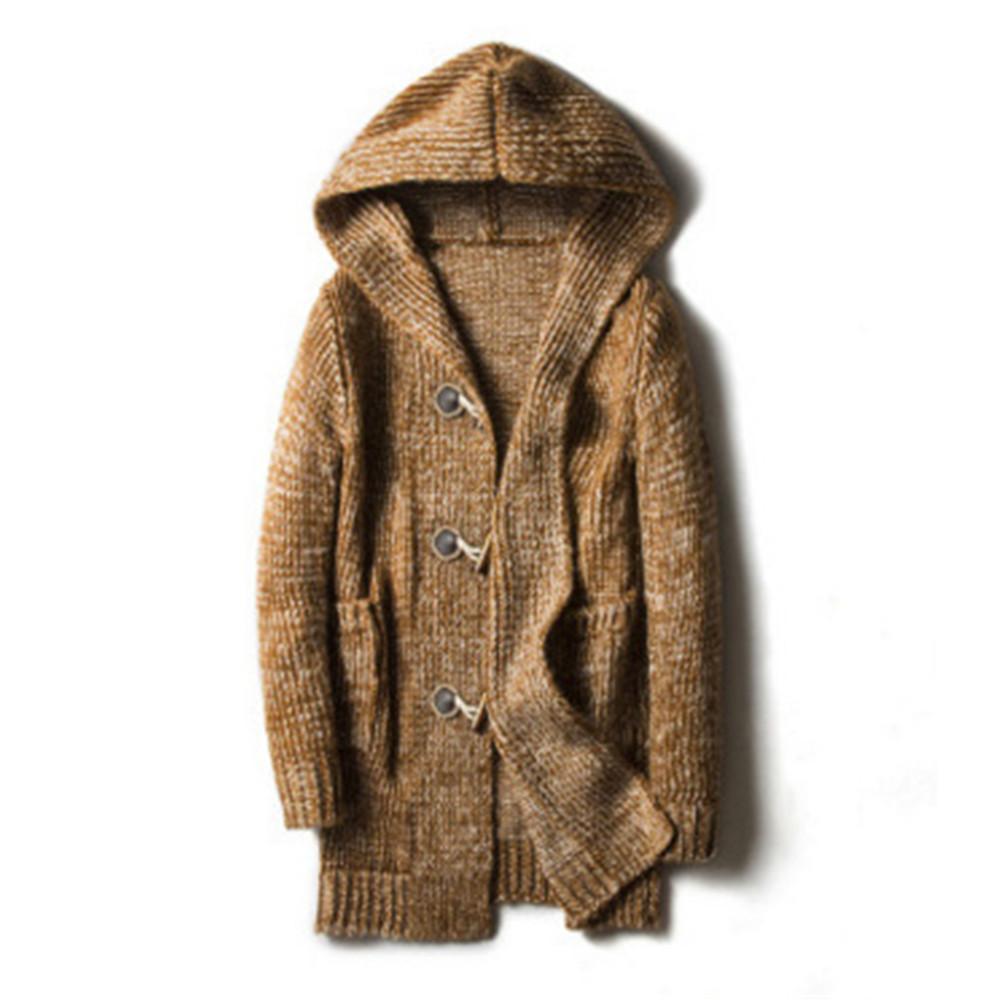 Yeni Rahat Ceket Kazak Ceket Hip Hop 5XL Üst Moda Isıtıcı Kış Giyim Ceketler Sonbahar Serin Düğme Mont Streetwear