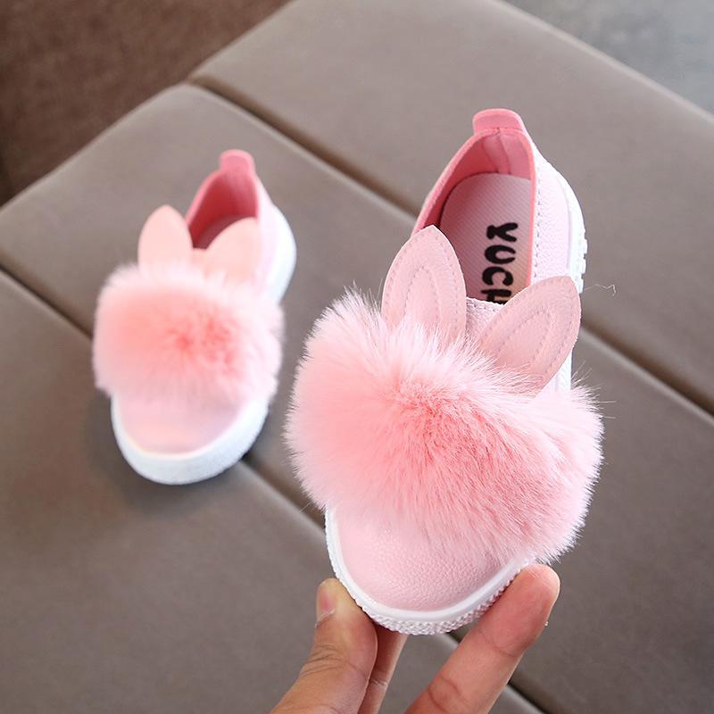Großhandel 21 30 Yards Süßes Baby Mädchen Baby Hasenohren Pom Pom Schuhe Kinder Kleine Lederschuhe Von Beatbox, $17.14 Auf De.Dhgate.Com | Dhgate