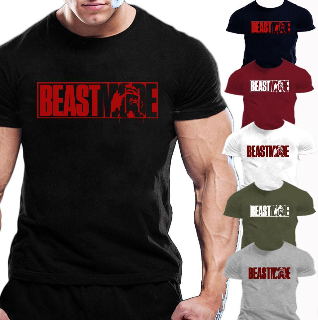 Bodybuilding Gym Motivation T-ShirtTraining Top Clothing Top  Mens 2 Colors