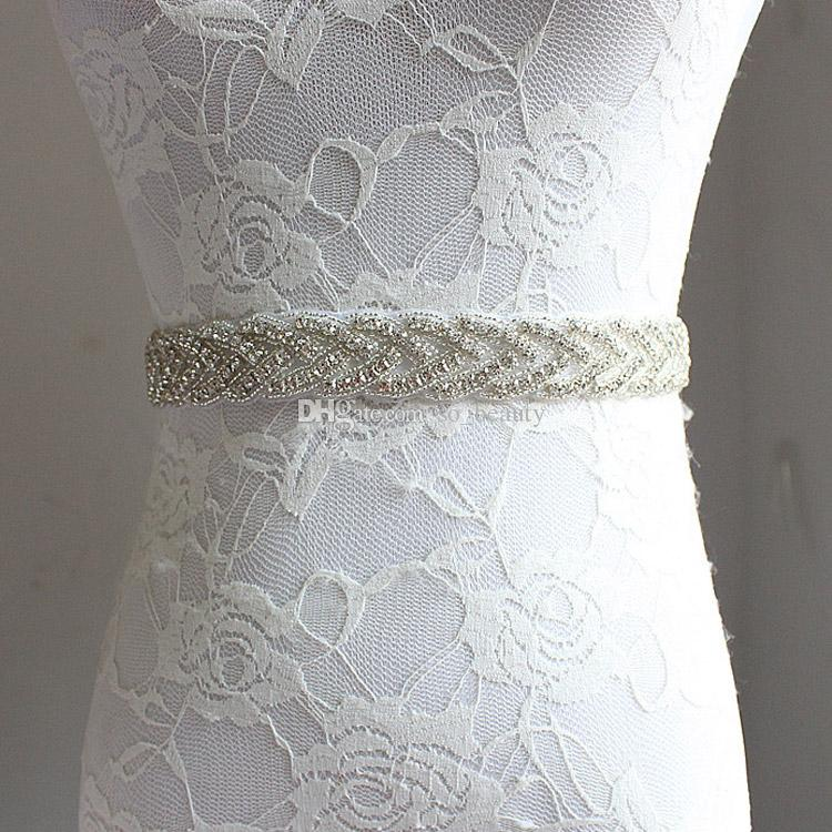 New Wedding Accessories Belt Bridal Sash Wedding Princess Rhinestone Belt Girl Flower Bridesmaid Dress Sash Multi Color Ribbon SW67